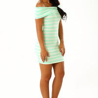 The Makenzie Dress: Mint/Cream