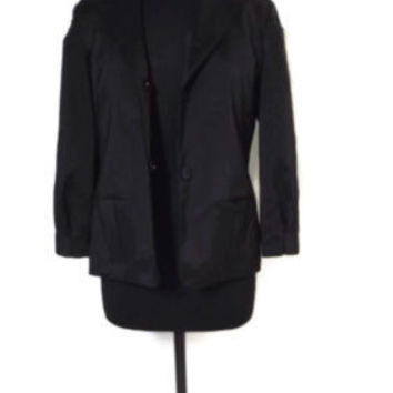 new SIMPLY VERA cute Black Dressy to Casual Jacket Size Medium M may fit 6 / 8