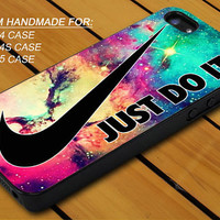 Nike Just Do It Galaxy Nebula - iPhone 4 / 4s or iPhone 5 Case - Hard Case Print - Black or White Case - Please leave message