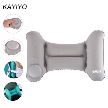 KAYIYO Automatic Inflatable Wasit Cushion Lumbar Support  Pillow Travel Cushion Lower Back Cushion Pillows for Office