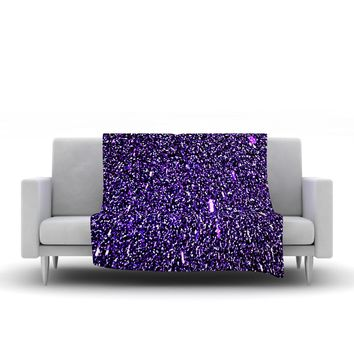 "Maynard Logan ""Purple Dots"" Fleece Throw Blanket - Outlet Item"