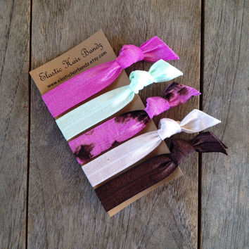 The Jessie Hair Ties Ponytail Holder Collection by Elastic Hair Bandz on Etsy