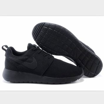 Nike roshe run couple light sports leisure net surface breathable Olympic running shoes black
