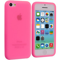 Light Pink Silicone Skin Case Cover for Apple iPhone 5C