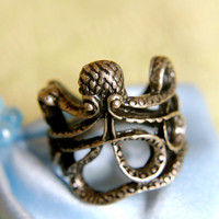 Lucky Brass Octopus