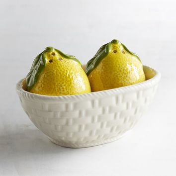 Basket of Lemons Salt & Pepper Shaker SET