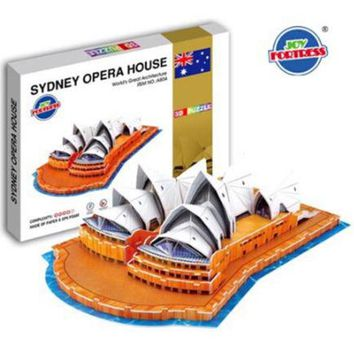 Educational 3D Model Puzzle Jigsaw Sydney Opera House DIY Toy