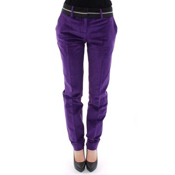 Dolce & Gabbana Purple Cotton Corduroys Jeans