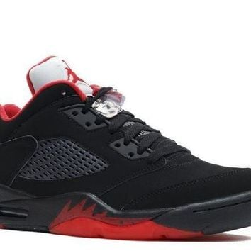 VONEED Ready Stock Nike Air Jordan 5 Retro Low Alternate 90 Black Red Basketball Sport Shoes