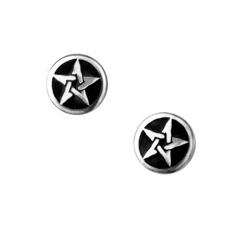 Alchemy Gothic Pentanoir Pentagram Earrings