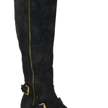 Knee Hige Buckle Boots