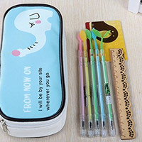 iThings J 1 Pcs school supplies pencil case PU leather elephant big funny cute for girl boy kawaii pencil bag reading and writing thing stationery