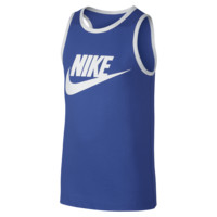 Nike Futura Boys' Tank Top Size Small (Blue)
