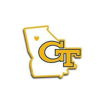 NCAA Georgia Tech Yellow Jackets Home State Auto Car Window Vinyl Decal Sticker