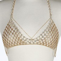 Jeweled Choker and Bra Body Chain