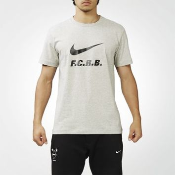 Nike F.C. Real Bristol Authentic Logo Men's T-Shirt - Grey Heather