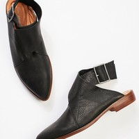 Bryce Wrap Flat in Black by Free People - cladandcloth