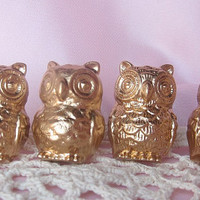 Sale-Cast Iron Owl Knobs/ Bird Drawer Knobs / Drawer Pulls/ Shabby Chic/ Rustic/ Cupboard Knobs/ Drawer Handles/ Nursery- Set of 4
