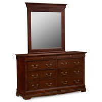 Neo Classic Cherry Kids Furniture Dresser & Mirror - Value City Furniture
