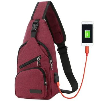Family Friends party Board game Men Anti-Theft Messenger Bags Handbags USB Charging Port Travel Sling Bag Crossbody Chest Pack 8G0071 AT_41_3