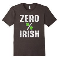 St Patricks Day Zero % Irish 0 Percent Shamrock T Shirt