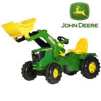 John Deere Farm 6210R Pedal Tractor with Front Digger - £199.99 : Kids Electric Cars, Little Cars for Little People