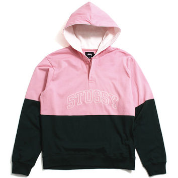 Block Hooded Jersey Pine Green / Pink