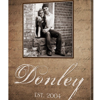 Personalized Family Name Canvas with Photo