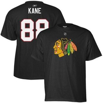 Chicago Blackhawks Patrick Kane Black Player T-shirt