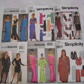 FREE US SHIP Patterns Evening Dressy Butterick 4731 / Simplicity 5495 / Simplicity 5787 / Butterick 5280 / Butterick 4733 / Simplicity 7100
