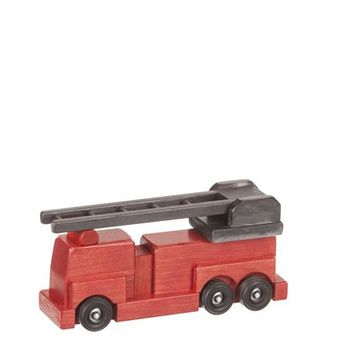 Wooden Truck Small Firetruck Traditional Toys for Kids