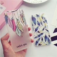 Exquisite feather mobile phone case for iphone 6 6s 6plus 6s plus + Nice gift box!