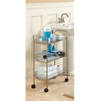 Spa Creations 3-Tier Rolling Cart with Locking Wheels