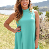 City Lights Swing Dress Jade