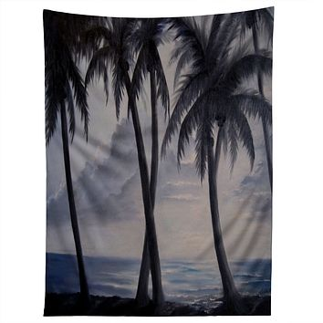 Rosie Brown Sunset Palms Tapestry