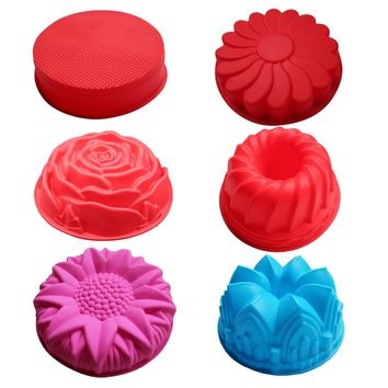 Single flower shape silicone Cake molds big Crown shaped mold CDSM-131