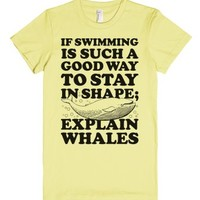 Explain Whales-Female Lemon T-Shirt