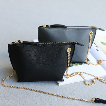 Korean Mini Chain Simple Design Stylish One Shoulder Bags [4915787908]