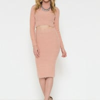Warm and Fuzzy Feeling Dress Set (Blush)