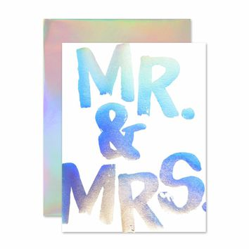 THE SOCIAL TYPE MR. & MRS. HOLLA-GRAM CARD