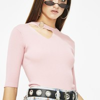 Blush Thinkin Bout You O-Ring Sweater