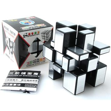 ShengShou Brushed Cast Coated Mirror Blocks Cubo magic 3x3x3 Puzzle Mirror Cubes Educational Cubo magico kub Juguetes toys