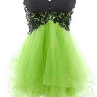 Fantastic Lace Ball Gown Sweetheart Mini Prom Dress/Homecoming Dress