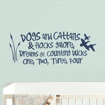 rvz906 Wall Vinyl Sticker Bedroom Decal Words Sign Quote Dogs Rocks Kids Nursery