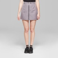 Women's Plaid Mini Skirt with Zippers - Wild Fable™ Violet