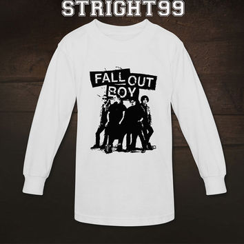 fall out boy shirt fob t-shirt tshirt t shirt printed long sleeve unisex size - 02