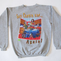 Vintage Goosebumps Say Cheese and Die Again Heather Grey Graphic Crewneck Sweatshirt Youth X-Large 90s R.L. Stine