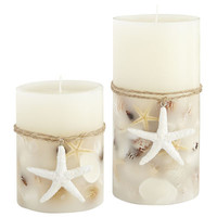 Ivory Seashell Candles