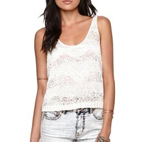 Kendall & Kylie Twist Back Sweater - Womens Sweater - White -
