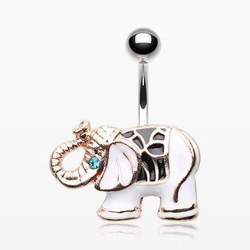 Maharajas Elephant Belly Button Ring